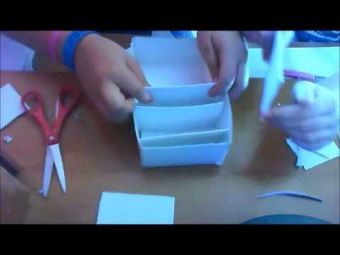 Come creare un contenitore a scomparti youtube - Letto con cassetti fai da te ...