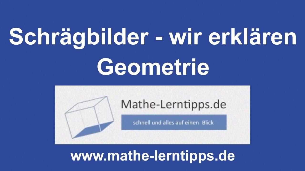 Schrägbilder - Wir erklären - mathe-lerntipps.de - YouTube