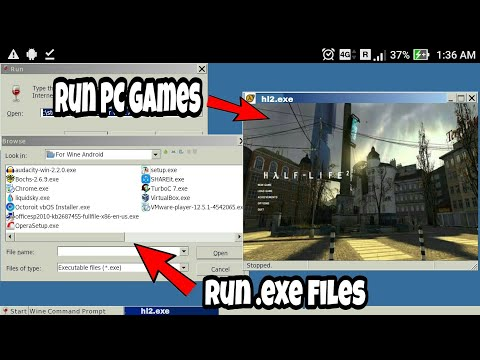 How To Run PC Games/Software On Any Android Phone..!![Run .EXE File]