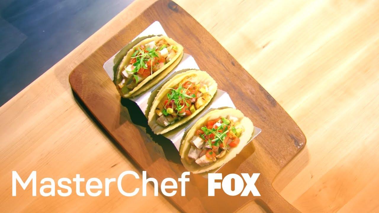 Masterchef apron (white) official merchandise - A Simple Yet Memorable Taco Season 8 Ep 1 Masterchef