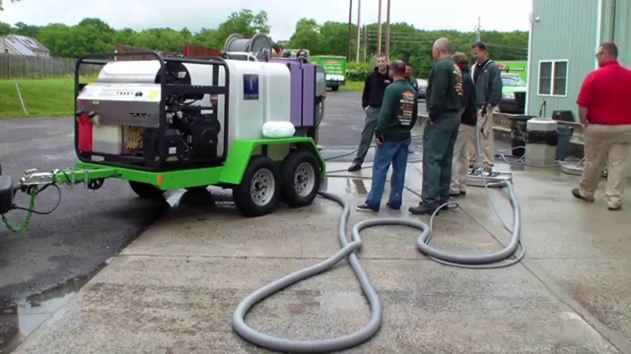 Servpro Training On Hcs Hot Water Pressure Washer Trailer