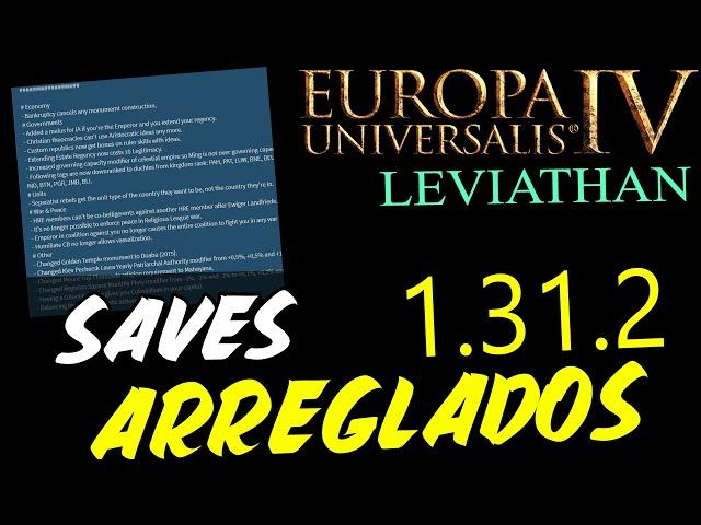 LOS SAVES YA NO PETAN - Nuevo Hotfix de la 1.31! 1.31.2