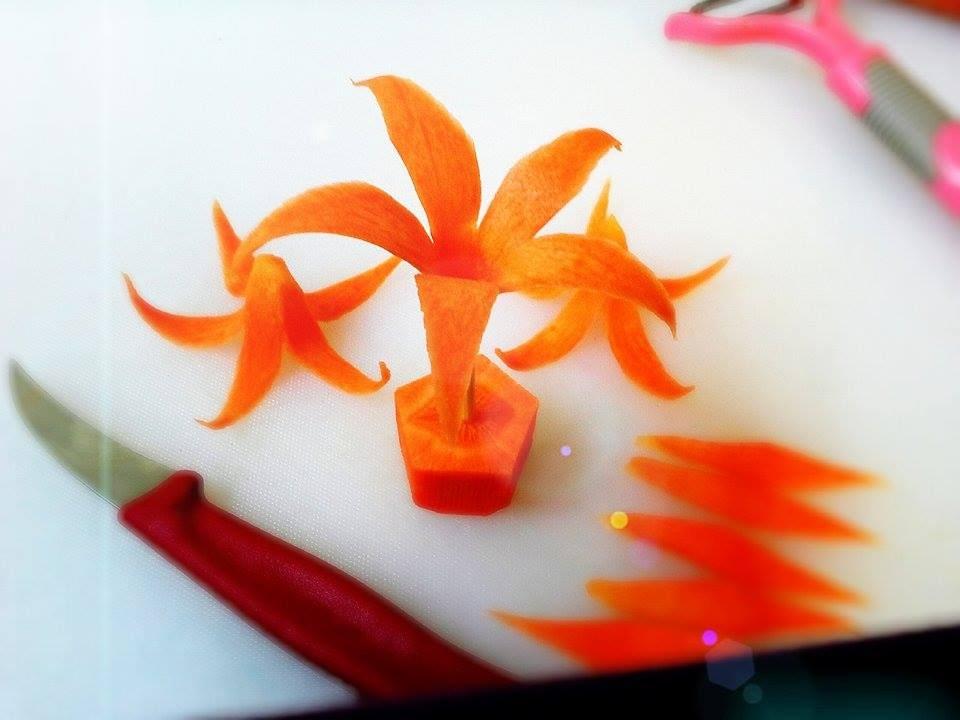 A carrot flower by mr carrot youtube for Decoracion de platos gourmet pdf