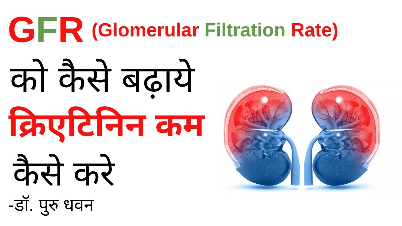 Increase GFR (Glomerular Filtration Rate) Levels Naturally in Kidney  Patients