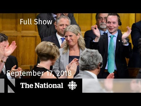 The National for Monday, Sept. 17, 2018 — MP Crosses Floor, Typhoon, Pot Business