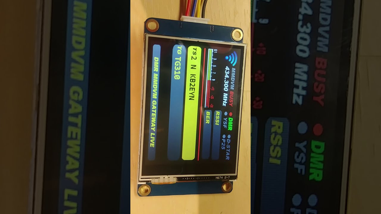 Nextion Screen On TheJumbo Spot DMR Fusion Dstar P25 Digital Hotspot