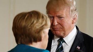 Merkel-Besuch bei Trump: Verständigung in Sachfragen, aber kein Handschlagfoto