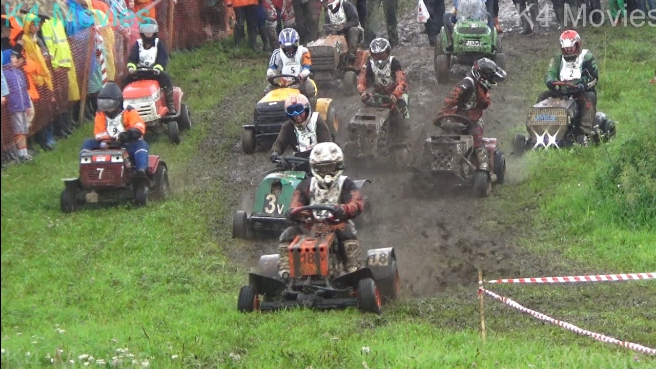 Lawn Mower Racing >> Awesome Lawn Mower Race In Off Road When It Rains