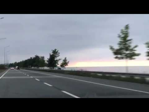 Driving along the black sea Coast , Turkey, Trabzon, Sunset, June 2017