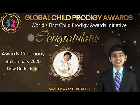 My INDIA TRIP to receive GLOBAL CHILD PRODIGY AWARD 2020