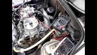 Mercedes 190 air flow sensor, duty cycle adjustment