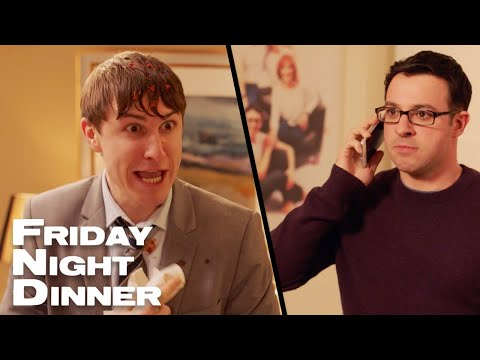 """""""Hello Mr Puss Face""""   Friday Night Dinner"""