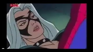 spiderman the animated series the black cat saves spiderman