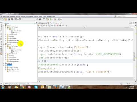 JMS Point To Point Chat Application In Netbeans