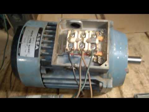 Электродвигатель ASEA Швеция работа от сети 220 вольт