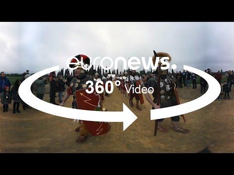360° video: Re-enacting Rome in Spain