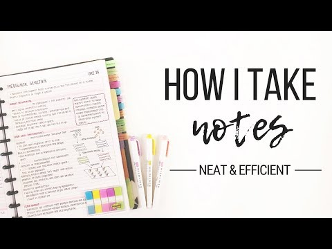 How I take notes - Tips for neat and efficient note taking | Studytee
