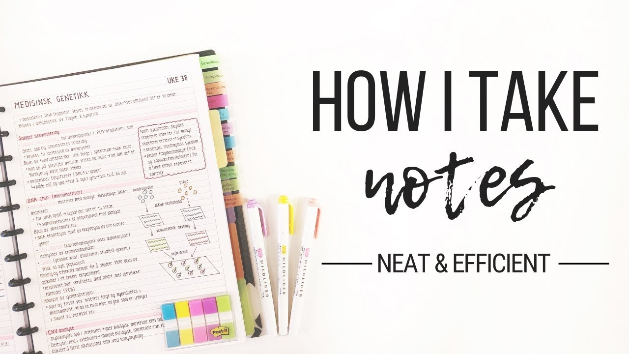 Download How I take notes - Tips for neat and efficient note taking | Studytee
