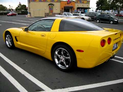 2002 Yellow Chevrolet Corvette Coupe For Sale Export Only