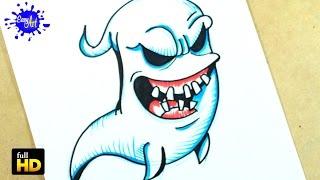 HALLOWEEN / Como dibujar un Fantasma paso a paso 2 / how to draw a Ghost.