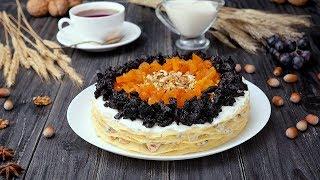Как приготовить блинный торт с сухофруктами - Рецепты от Со Вкусом