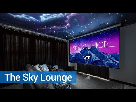 The Sky Lounge — a custom home theater in the sky.