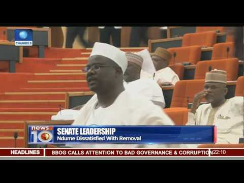 Ndume Expresses Dissatisfaction Over Removal, Says It May Be Ekweremadu Tomorrow