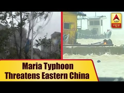 Maria Typhoon threatens eastern China after making a landfall entry in the country