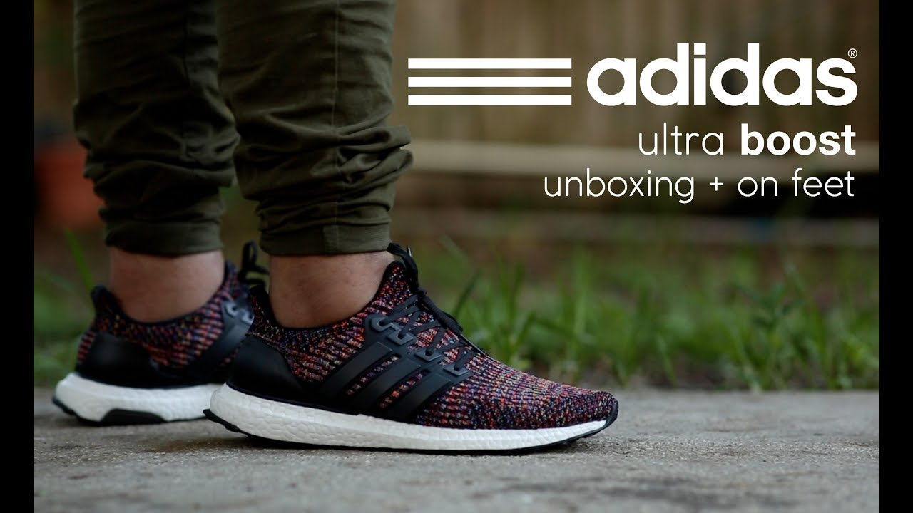 Adidas Ultra Boost 3.0  Multicolored  Unboxing + On Feet - YouTube c9e8bb842