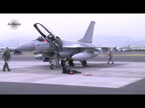 Royal Danish Air Force F-16 Landing at Lajes Field, Azores, Portugal.
