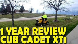 Cub Cadet - CUB CADET XT1 1 YEAR REVIEW (WATCH BEFORE BUYING)