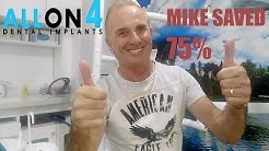 The cheapest way to do an all on four dental implant. Permanent dentures in Cancun, Mexico