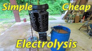 Cleaning a 70 Year Old Engine with Electrolysis