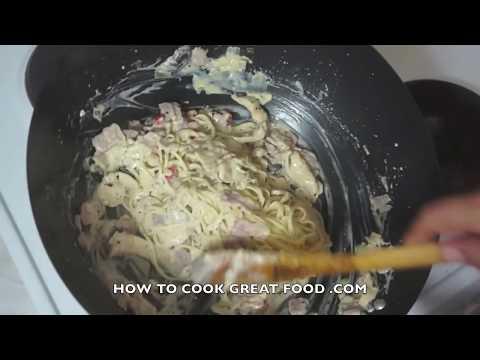 Chicken & Bacon Cream Pasta - Cream Sauce Chicken - Chicken Bacon Spaghetti - Pasta cream Sauce