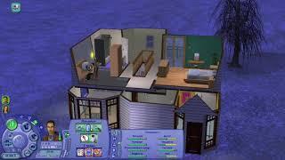 Sims 2. 9 Последний курс. Сломался компьютер героев бьёт током. Накупили разных игр.