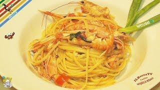 226 - Linguine agli scampi...li consiglia anche Ciampi! (primo piatto di pesce saporito e profumato)