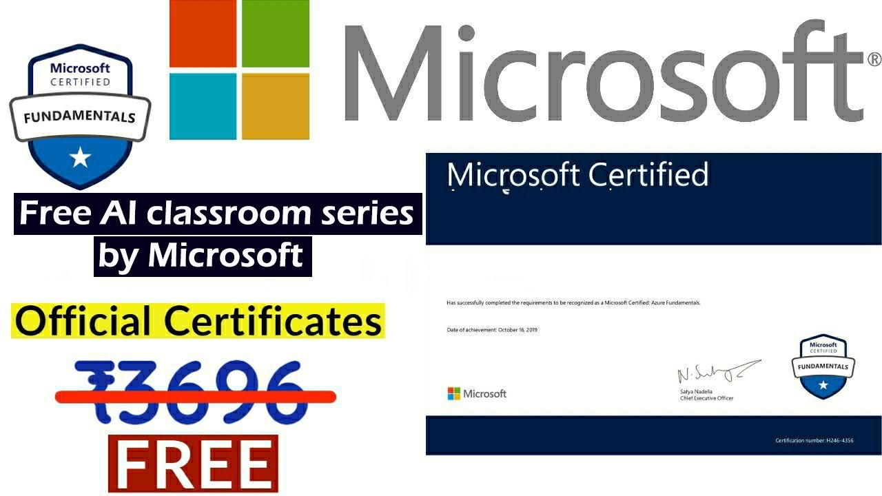 microsoft free certification courses verified certificate
