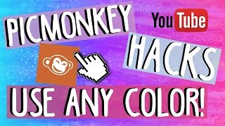 Picmonkey Hacks: Use ANY color you want!