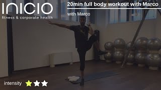 20min full body workout with Marco