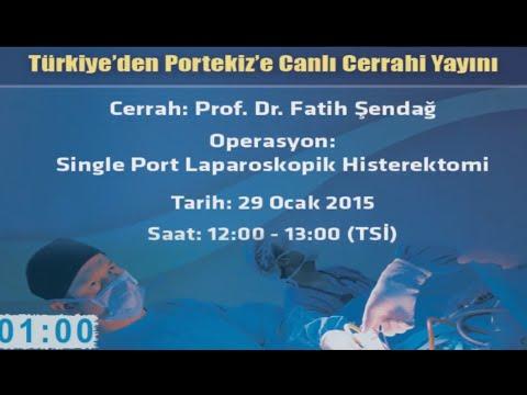 29 Ocak Türkiye'den Portekiz'e Canlı Cerrahi Yayını, Prof Dr Fatih Şendağ
