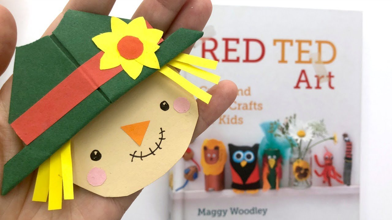 Scarecrow Corner Bookmark Diy Easy Harvest Festival Craft Youtube
