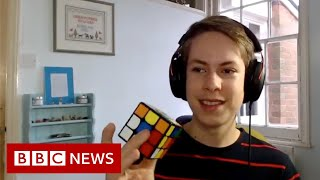Meet teenage engineering student won a gold at the Rubik's Cube World Cup - BBC News