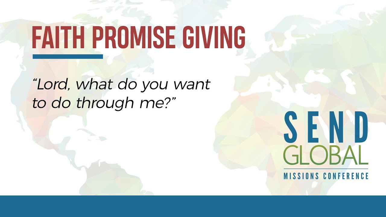 Faith Promise Giving 2018