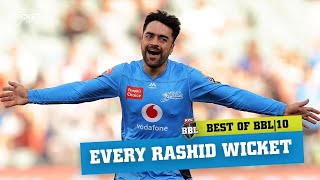 Every wicket: Rashid Khan bamboozles batters in BBL|10