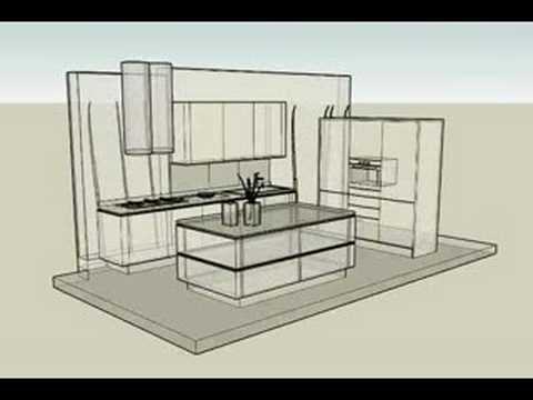 cucina idea snaidero - progettazione 3d arredamento d'interni ... - Disegnare Cucina 3d