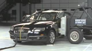 Voiture de Luxe Crash Test 2005 Audi A6 side test
