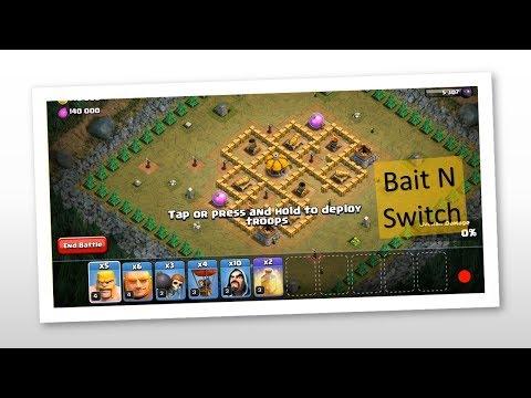 Clash Of Clans - Single Player Battle Walk-Thorugh - Bait N Switch