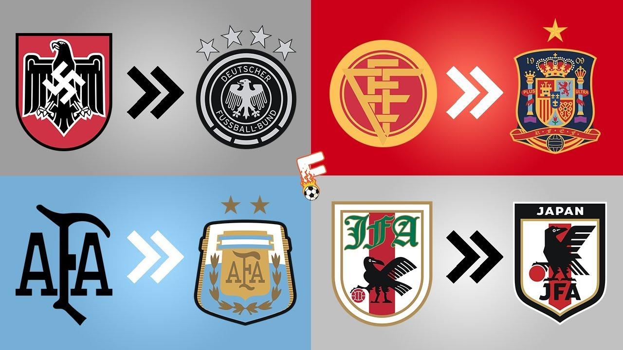 32 National Football Team Shirt Badge Evolution ⚽ FIFA World Cup 2018 ⚽  Footchampion d038caca0