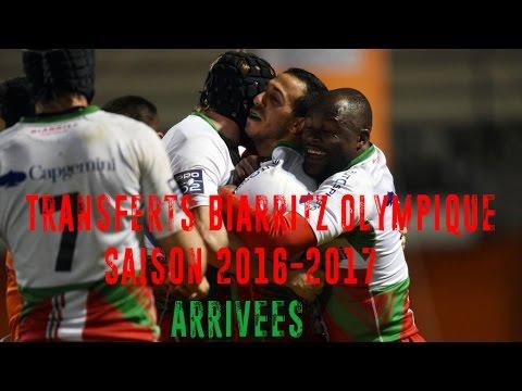 Transferts Biarritz Olympique 2016-2017 - Arrivées