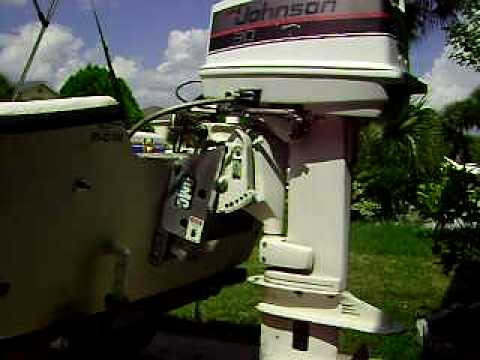 how to add hydraulic fluid to a outboard tilit
